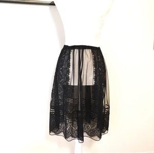 Alice by Temperley sheer Lace appliqué Skirt OSFM